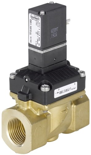 Burkert Type 6212 – Diaphragm Valve 2/2 Way Servo-assisted